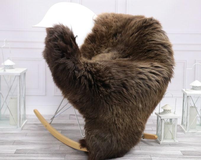Sheepskin Rug | Real Sheepskin Rug | Shaggy Rug | Scandinavian Rug | | SCANDINAVIAN DECOR |  BROWN Sheepskin  #NOVHER73