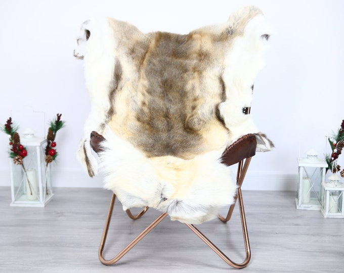 Reindeer Hide | Reindeer Rug | Reindeer Skin | Throw  - Scandinavian Style #ERE29 130x105 | Christmas Decor |