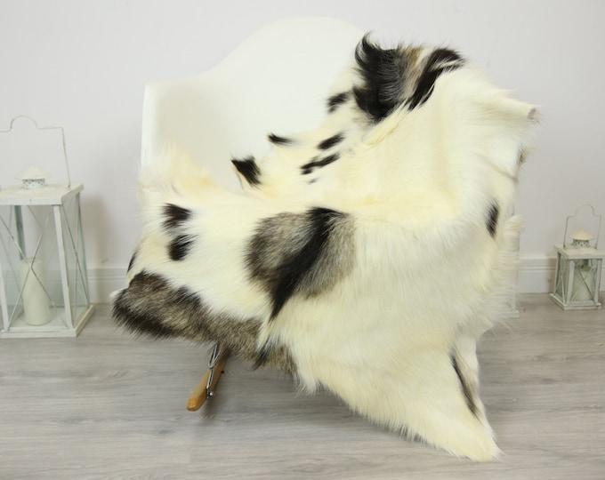 Natural real Goatskin rug, Goat Hide Goat Rug Ivory  #Goat27