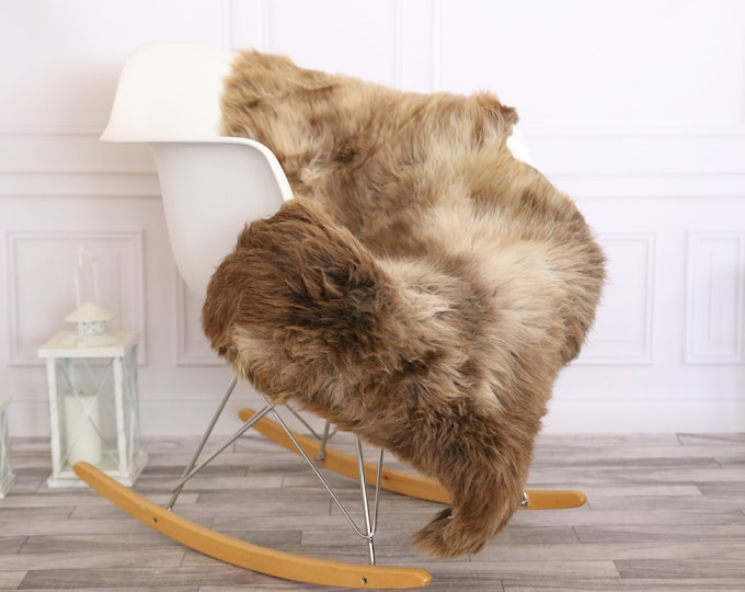 Sheepskin Rug | Real Sheepskin Rug | Shaggy Rug | Scandinavian Rug | | SCANDINAVIAN DECOR | brown Sheepskin  #MIHER3