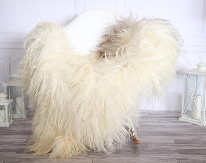 Icelandic Sheepskin | Real Sheepskin Rug | Beige Brown Sheepskin Rug | Fur Rug |Scandinavian dedcor | #ISLSKL39