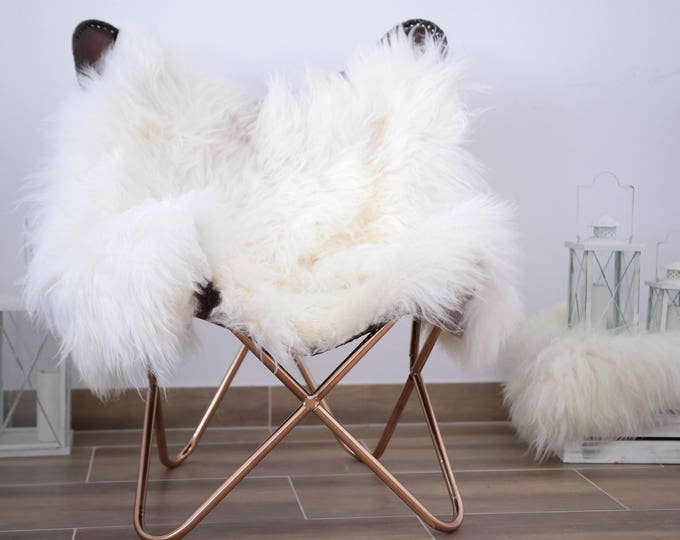 Double Icelandic Sheepskin Rug | Square Sheepskin | Shaggy Rug | Chair Cover | Ivory Rug | Carpet | White Sheepskin