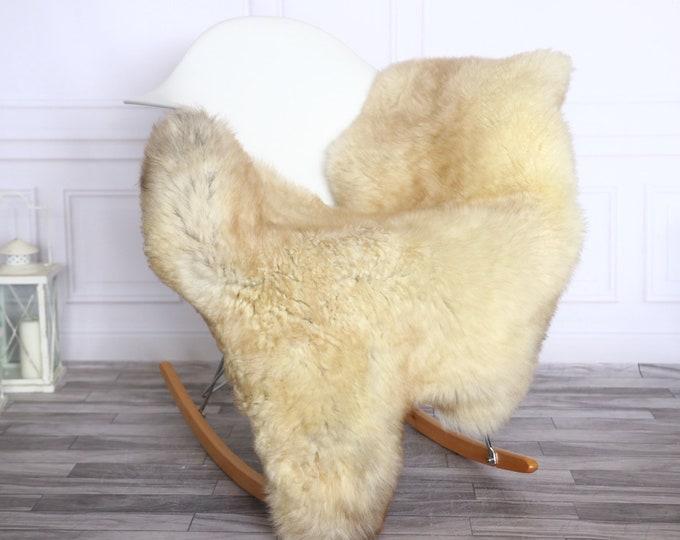 Sheepskin Rug | Real Sheepskin Rug | Shaggy Rug | Sheepskin Throw | Sheepskin Rug Brown Beige | Chirtmas Home Decor | #1HER53