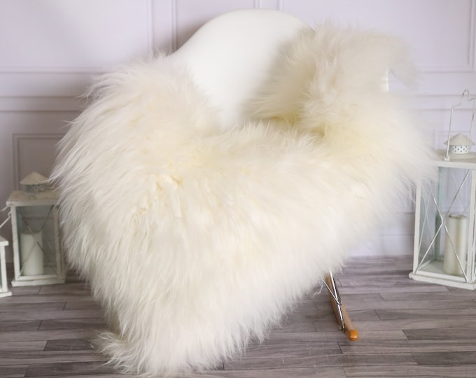 Icelandic Sheepskin | Real Sheepskin Rug |  Super Large Sheepskin Rug Ivory | Fur Rug | Homedecor #MIHISL34