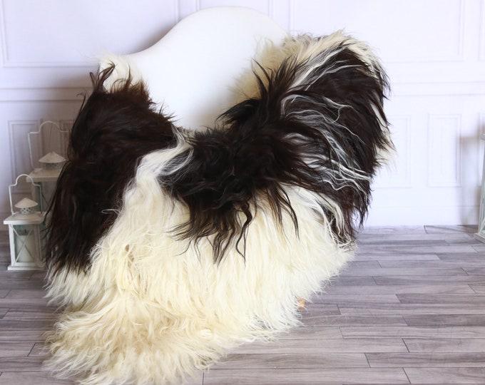 Icelandic Sheepskin | Real Sheepskin Rug | Sheepskin Rug Brown Beige | Fur Rug | Homedecor #WRZISL13