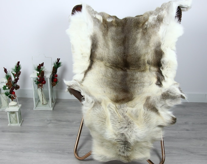 Reindeer Hide | Reindeer Rug | Reindeer Skin | Throw  - Scandinavian Style #GRE6 140x105 | Christmas Decor |