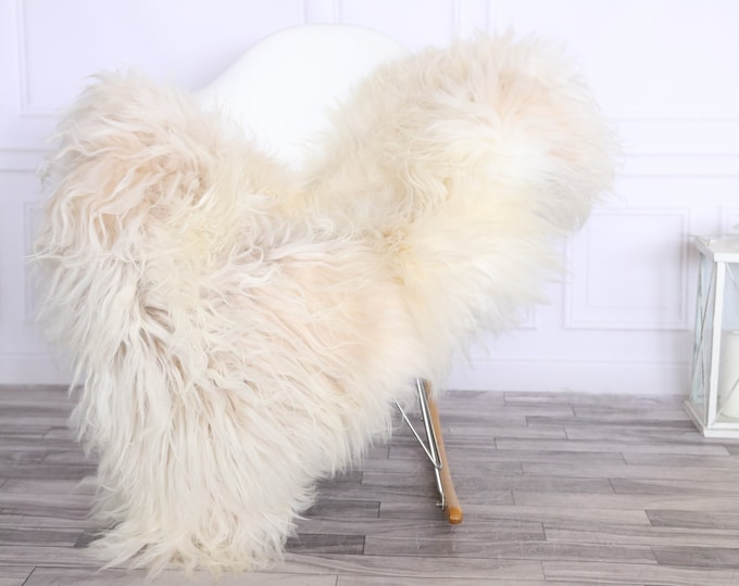 Icelandic Sheepskin | Real Sheepskin Rug | CHRISTMAS DECOR | Sheepskin Rug Beige Ivory | Fur Rug | Homedecor #LISISL4