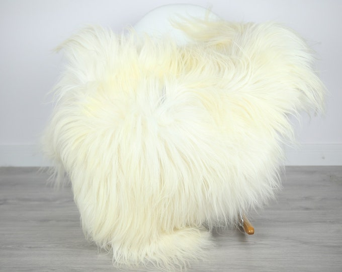 Icelandic Sheepskin | Real Sheepskin Rug | | Large Sheepskin Rug Ivory | Fur Rug | Homedecor | Sheepskin Throw | Long fur #colisl43