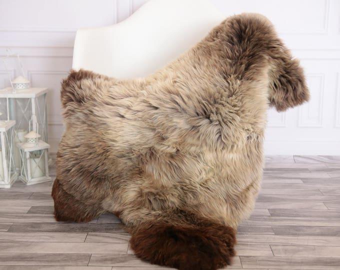 Sheepskin Rug   Real Sheepskin Rug   Shaggy Rug   Scandinavian Rug     SCANDINAVIAN DECOR   Brown Sheepskin  #FEBHER6