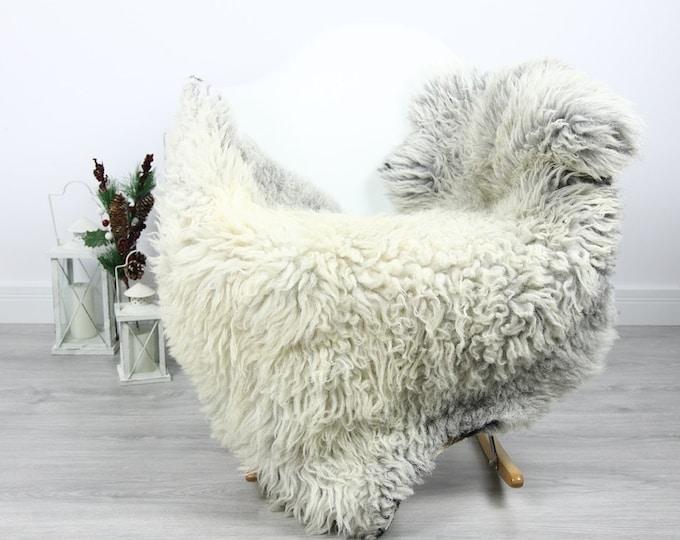 Organic Sheepskin Rug, Real Sheepskin Rug, Curly Sheepskin, Gray Beige Sheepskin Rug Christmas Home #CURLGUT14