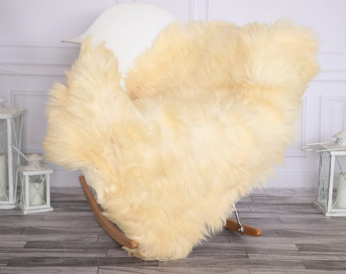 Sheepskin Rug | Real Sheepskin Rug | Shaggy Rug | Chair Cover | Sheepskin Throw | Ivory Sheepskin | CHRISTMAS DECOR | #NOVHER45