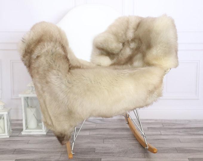 Sheepskin Rug | Real Sheepskin Rug | Shaggy Rug | Scandinavian Rug | | SCANDINAVIAN DECOR | beige Sheepskin  #MIHER1