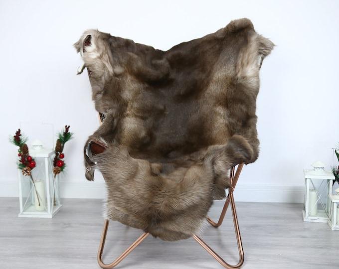 Reindeer Hide | Reindeer Rug | Reindeer Skin | Throw  - Scandinavian Style #ERE28 145x110 | Christmas Decor |