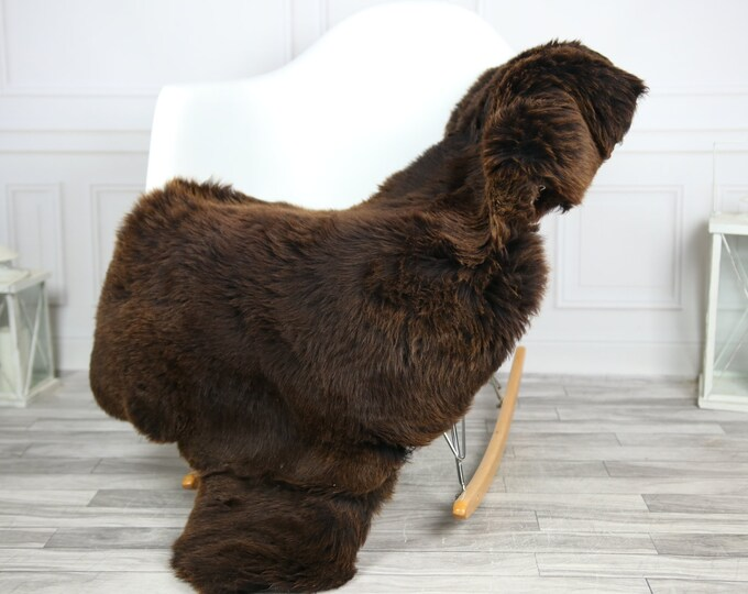 Sheepskin Rug | Real Sheepskin Rug | Shaggy Rug | Chair Cover | Sheepskin Throw | Brown Sheepskin | CHRISTMAS DECOR | #2HER3