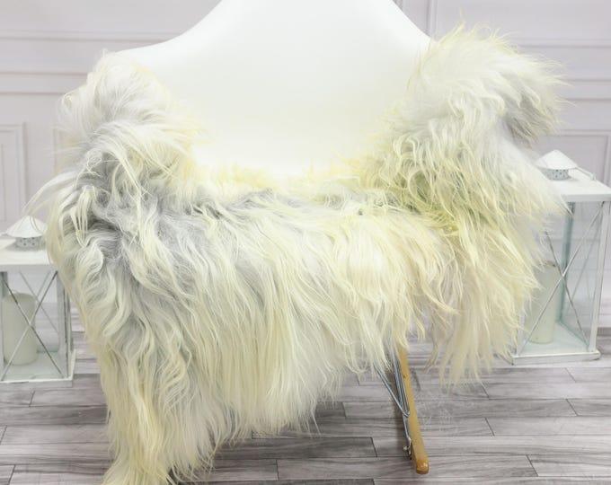Icelandic Sheepskin   Real Sheepskin Rug   Grey Ivory Sheepskin Rug   Fur Rug   Christmas Decorations #islsept27