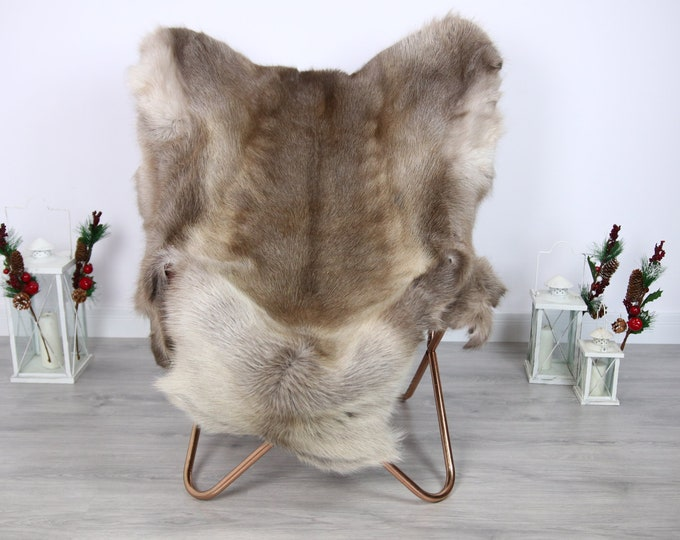 Reindeer Hide | Reindeer Rug | Reindeer Skin | Throw  - Scandinavian Style #ERE3 150x115 | Christmas Decor |