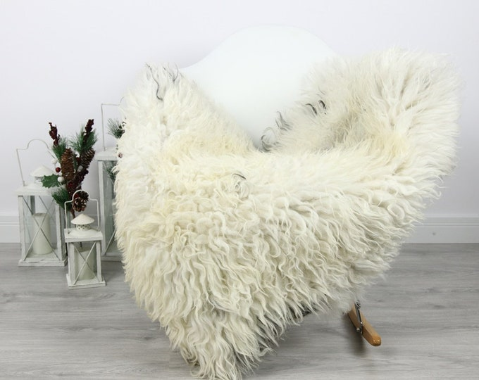 Organic Sheepskin Rug, Real Sheepskin Rug, Curly Sheepskin, Gray Beige Sheepskin Rug Christmas Home #CURLGUT5