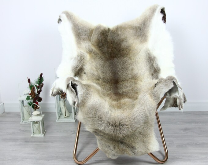 Reindeer Hide | Reindeer Rug | Reindeer Skin | Throw  - Scandinavian Style #GRE10 140x105 | Christmas Decor |