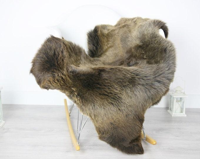 Sheepskin Rug | Real Sheepskin Rug | Shaggy Rug | Scandinavian Rug | Sheepskin Throw Brown Sheepskin | SCANDINAVIAN DECOR | #3HER4