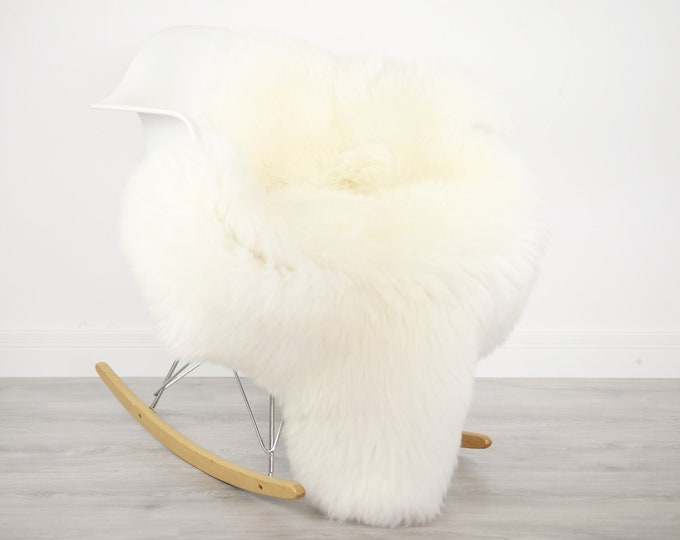 ON SALE Real, Natural, Genuine Creamy White Sheepskin Rug Scandinavian Design - 3 SIZES!
