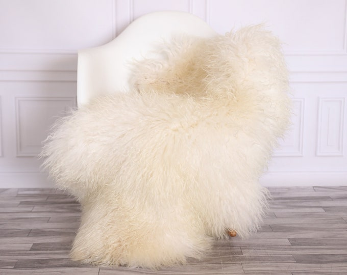 Sheepskin Rug Genuine | Curly Sheepskin Rug | Curly Iceland Sheepskin | Ivory Sheepskin | Sheepskin Throw | Sheepskin Pelt | CURLY13