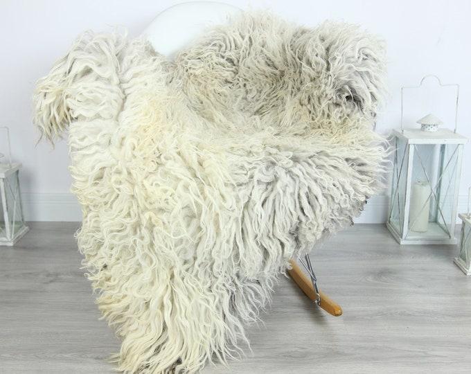 Organic Curly Sheepskin Rug, Real Sheepskin Rug, Gute Sheepskin,Gray Beige Sheepskin Rug #GOTKW3