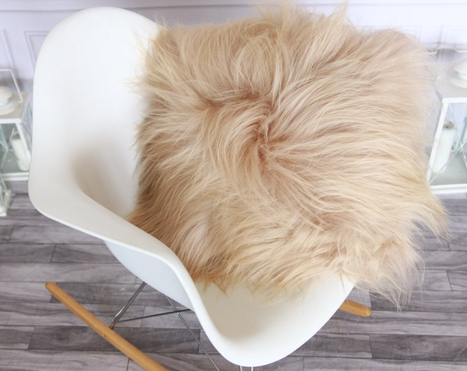 Real Icelandic Champagne Pink Sheepskin Pillow Sheepskin Cushion