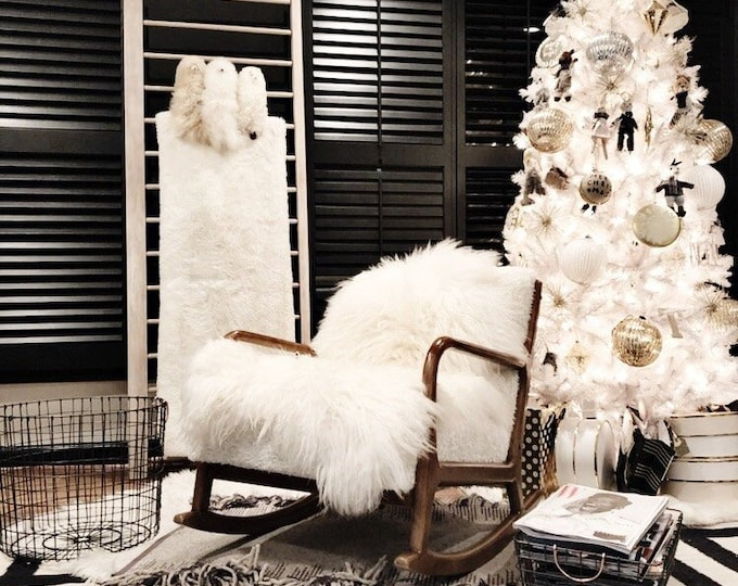 Creamy White Real Icelandic Sheepskin Rug Home Decor