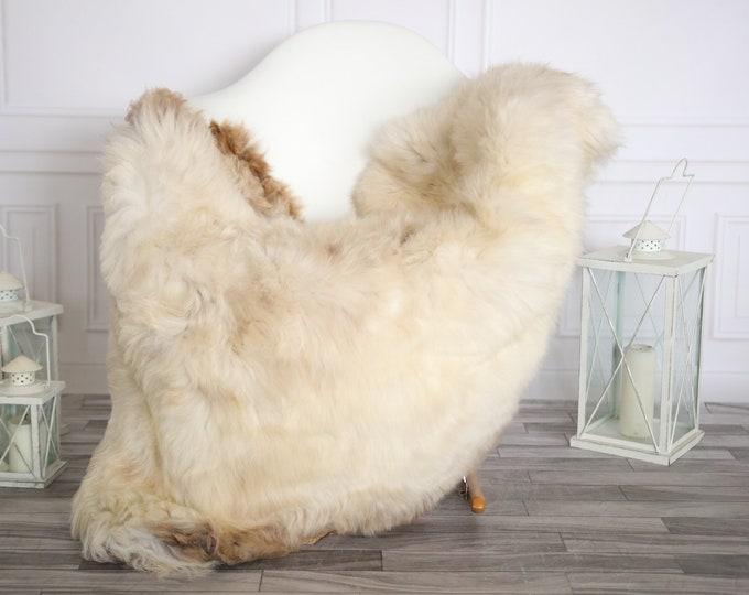 Sheepskin Rug | Real Sheepskin Rug | Shaggy Rug | Sheepskin Throw | Super Large Sheepskin Rug Beige Brown| Home Decor | #HERMAJ78