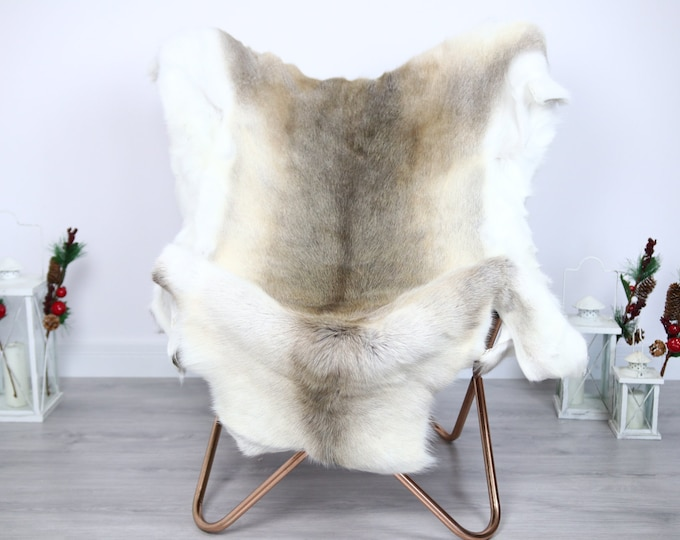 Reindeer Hide | Reindeer Rug | Reindeer Skin | Throw  - Scandinavian Style #ERE15 150x120 | Christmas Decor |
