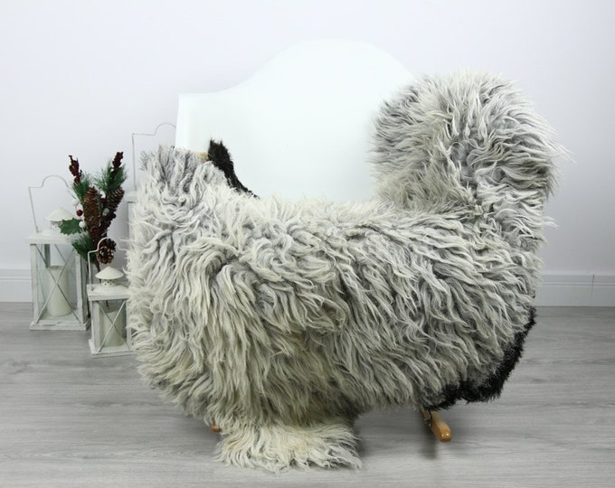 Organic Sheepskin Rug, Real Sheepskin Rug, Curly Sheepskin, Gray Beige Sheepskin Rug Christmas Home #CURLGUT15