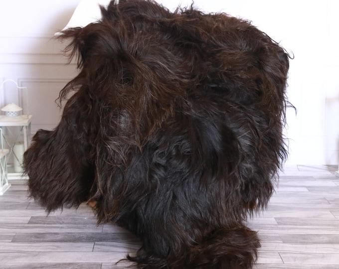 Icelandic Sheepskin | Real Sheepskin Rug | Sheepskin Rug Black Brown | Fur Rug | Homedecor #WRZISL24
