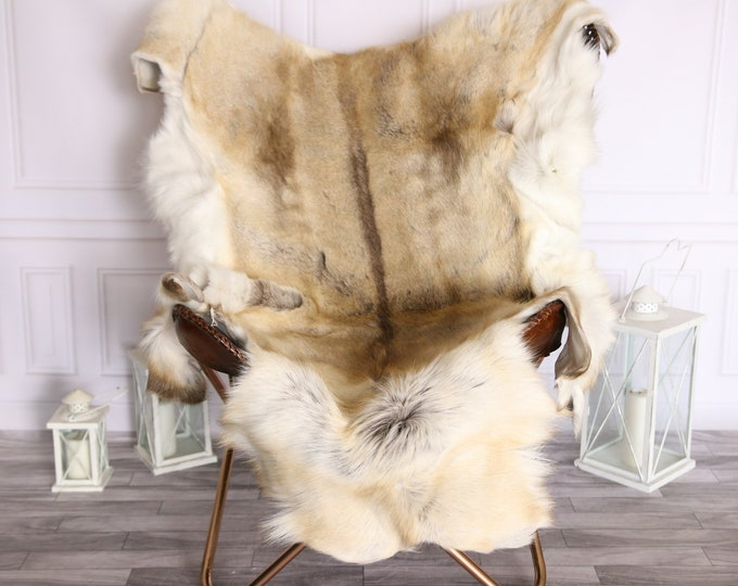 Reindeer Hide | Reindeer Rug | Reindeer Skin | Throw Large  -XXXL GIANT Scandinavian Style #BRE9