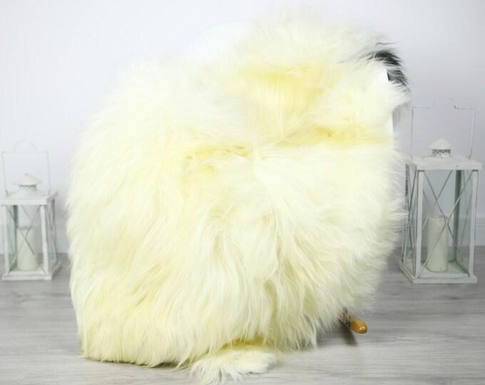 Icelandic Sheepskin   Real Sheepskin Rug   Sheepskin Rug Ivory Black   Fur Rug   Homedecor #3Isl8