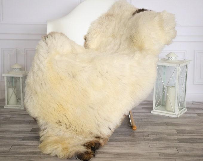 Sheepskin Rug | Real Sheepskin Rug | Shaggy Rug | Chair Cover | Sheepskin Throw | Beige Brown Sheepskin | Home Decor | #HERMAJ59