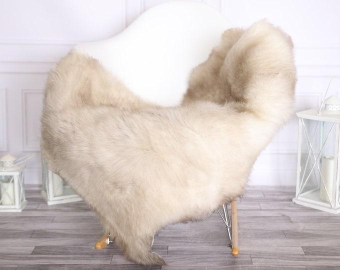 Sheepskin Rug | Real Sheepskin Rug | Shaggy Rug | Scandinavian Rug | | SCANDINAVIAN DECOR | Beige Brown Sheepskin #OLHER8