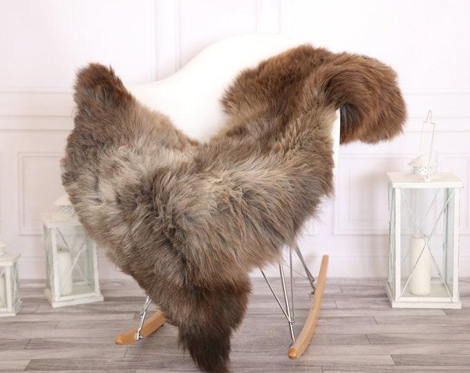 Sheepskin Rug | Real Sheepskin Rug | Shaggy Rug | Scandinavian Rug | | SCANDINAVIAN DECOR | Beige Brown Sheepskin  #MIHER13