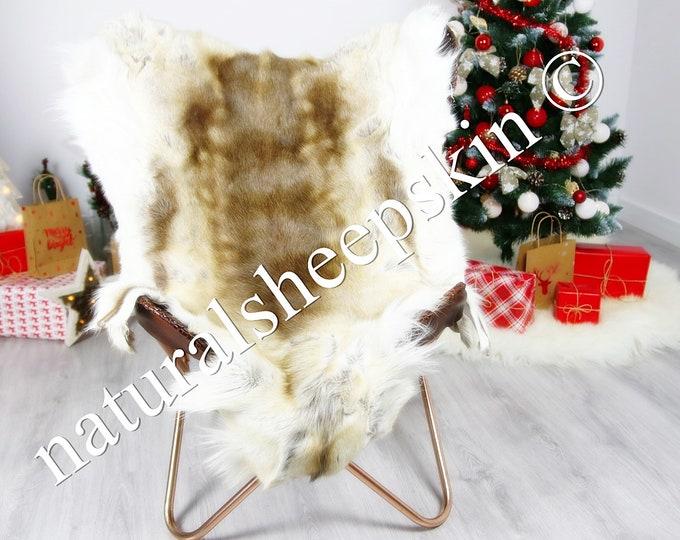 Reindeer Hide | Reindeer Rug | Reindeer Skin | Throw  - Scandinavian Style #DRE4 135X100