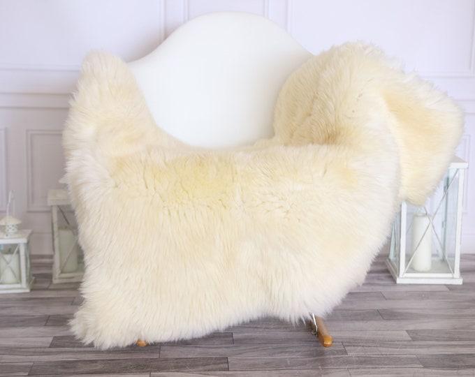 Sheepskin Rug | Real Sheepskin Rug | Shaggy Rug | Scandinavian Rug | | SCANDINAVIAN DECOR | Ivory Sheepskin  #MIHER28