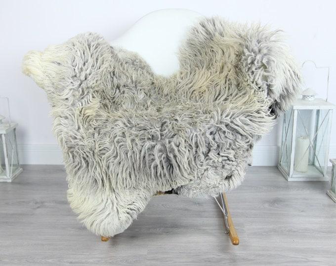 Organic Curly Sheepskin Rug, Real Sheepskin Rug, Gute Sheepskin,Gray Sheepskin Rug #GOTKW2