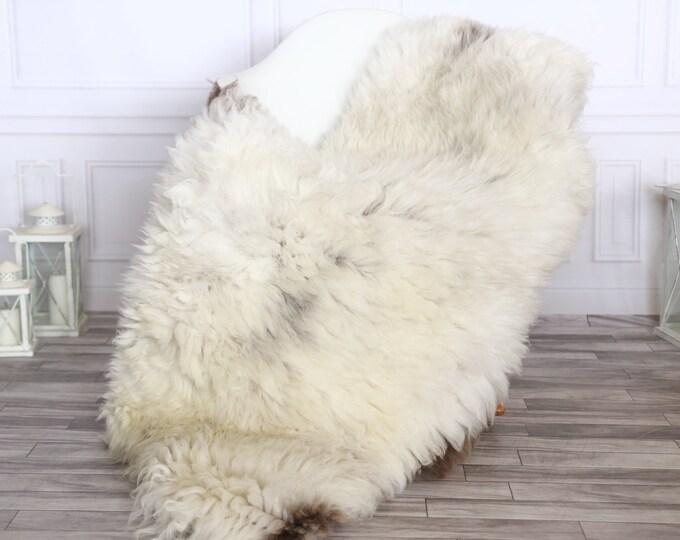 Sheepskin Rug | Real Sheepskin Rug | Shaggy Rug | Sheepskin Throw | Sheepskin Rug White Brown | Chirtmas Home Decor | #1HER37