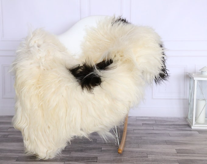 Icelandic Sheepskin | Real Sheepskin Rug | CHRISTMAS DECOR | Sheepskin Rug | Brown Ivory | Fur Rug | Homedecor #LISISL10