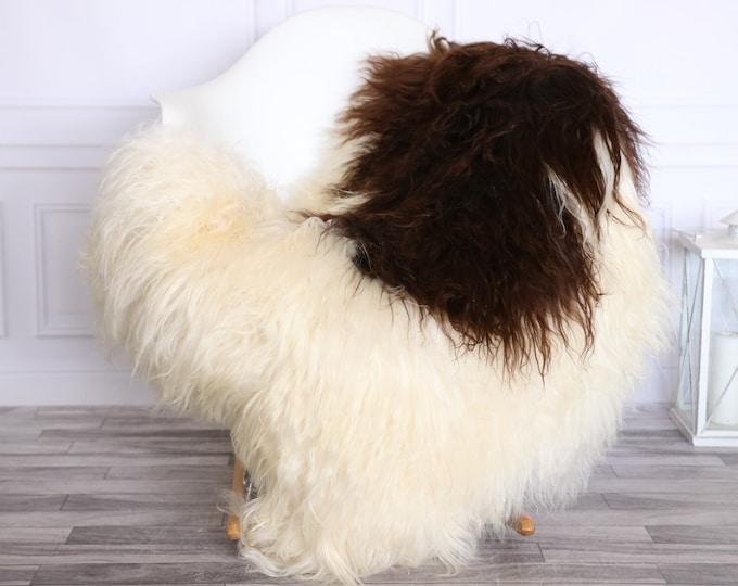 Icelandic Sheepskin | Real Sheepskin Rug | CHRISTMAS DECOR | Sheepskin Rug Beige Brown | Fur Rug | Homedecor #1isl11