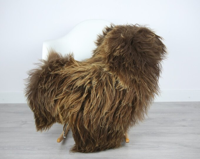 Icelandic Sheepskin | Real Sheepskin Rug | | Large Sheepskin Rug Brown | Fur Rug | Homedecor | Sheepskin Throw | Long fur #colisl32