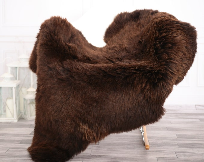 Sheepskin Rug | Real Sheepskin Rug | Shaggy Rug | Chair Cover | Sheepskin Throw | Brown Sheepskin | Home Decor | #febher62
