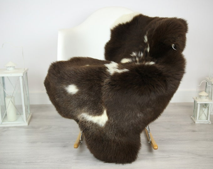 Sheepskin Rug   Real Sheepskin Rug   Shaggy Rug   Chair Cover   Sheepskin Throw   Brown Sheepskin   Home Decor   #JAC12