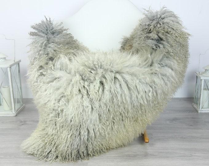 Genuine Rare Gotland Sheepskin Rug - Curly Fur Rug - Natural Sheepskin - Gray Sheepskin #PRYMGOT7