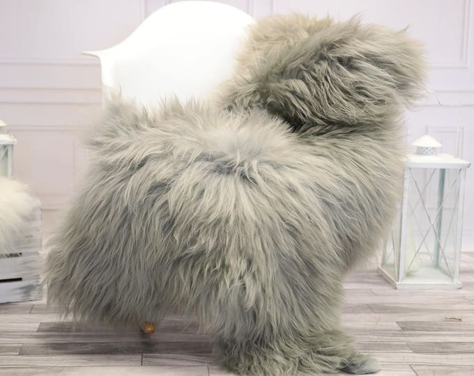 Icelandic Sheepskin | Real Sheepskin Rug | Gray Sheepskin Rug | Fur Rug |  Home decor #JANISL20
