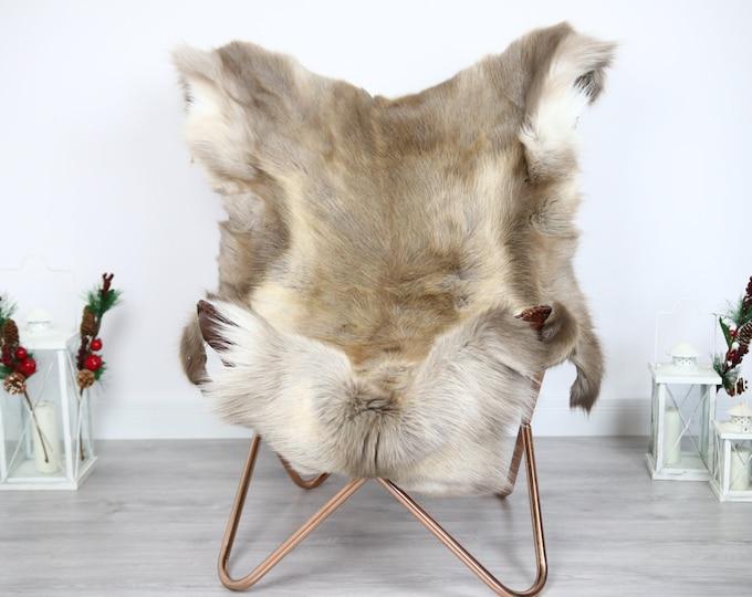 Reindeer Hide | Reindeer Rug | Reindeer Skin | Throw  - Scandinavian Style #ERE9 130x110 | Christmas Decor |