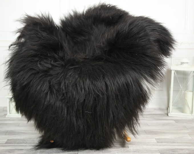 Icelandic Sheepskin   Real Sheepskin Rug   CHRISTMAS DECOR   Sheepskin Rug Black White   Fur Rug   Homedecor #2ISL36
